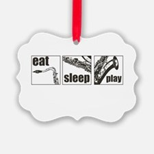 Eat Sleep Play Sax Ornament