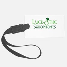 Luck 'O the Saxophones Luggage Tag