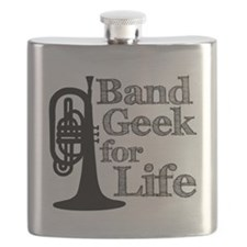 Band Geek for Life Flask