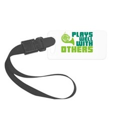 French Horn Plays Well Luggage Tag