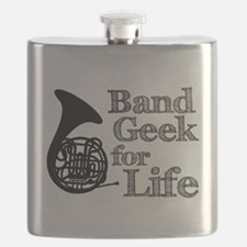 French Horn Band Geek Flask