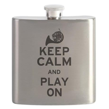 Keep Calm Horn Flask