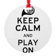 Keep Calm Horn Ornament