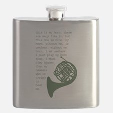 Cute French horn Flask