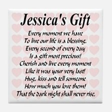 Jessica's Gift Tile Coaster
