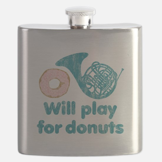 Will Play Horn for Donuts Flask