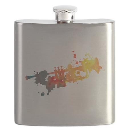 Paint Splat Trumpet Flask