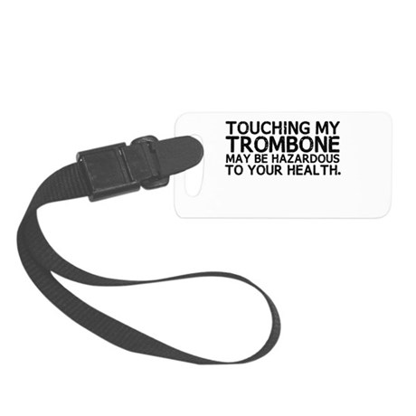 Trombone Hazard Small Luggage Tag