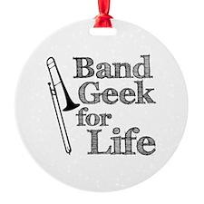 Trombone Band Geek Ornament