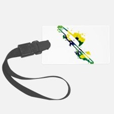 Paint Splat Trombone Luggage Tag