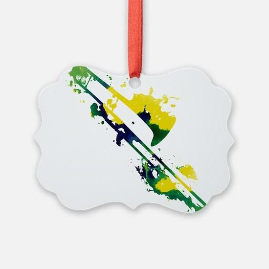 Paint Splat Trombone Ornament