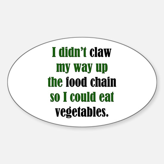 Vegetable Claw Oval Decal