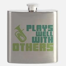 Baritone Plays Well Flask