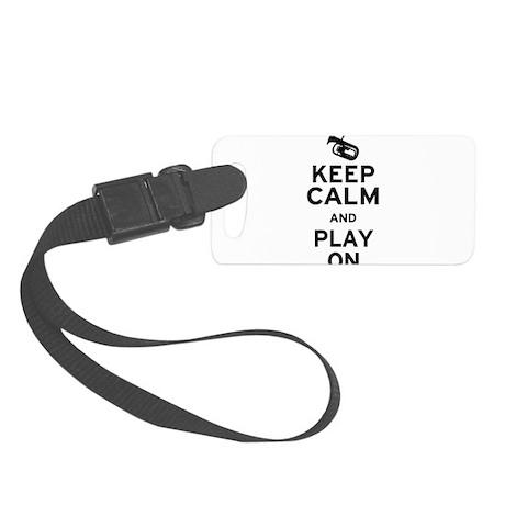 Keep Calm Baritone Small Luggage Tag