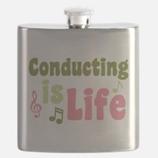 Conducting is Life Flask