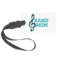 Treble Clef Band Mom Luggage Tag