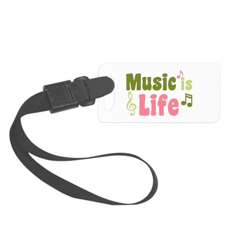 Music is Life Small Luggage Tag