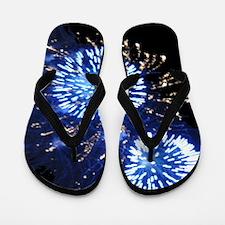 Blue Fireworks Flip Flops and Sandals
