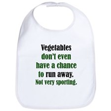 Veggies Run Away Bib