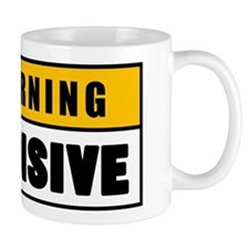 Warning Offensive Lockout Mug