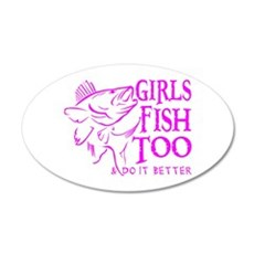 GIRLS FISH TOO WALLEYE Wall Decal