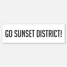 Go Sunset District Bumper Bumper Bumper Sticker
