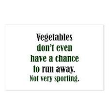 Veggies Run Away Postcards (Package of 8)