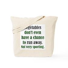 Veggies Run Away Tote Bag