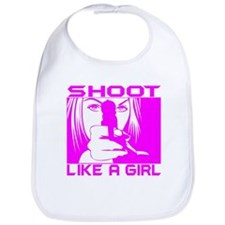 SHOOT LIKE A GIRL Bib