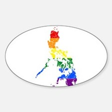 Philippines Rainbow Pride Flag And Map Decal