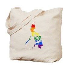 Philippines Rainbow Pride Flag And Map Tote Bag
