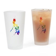 Philippines Rainbow Pride Flag And Map Drinking Gl