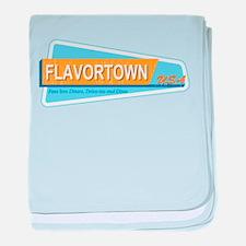 Fans of Flavortown baby blanket