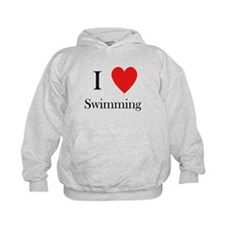 i love swimming heart Hoodie