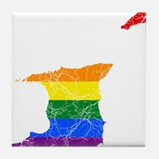 Trinidad And Tobago Rainbow Pride Flag And Map Til
