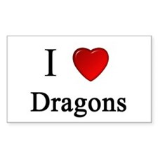 i love dragons heart magical magic Decal