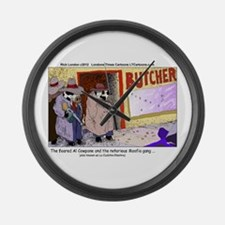 Al Capone The Cow Large Wall Clock