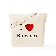 i love brownies heart magical magic Tote Bag
