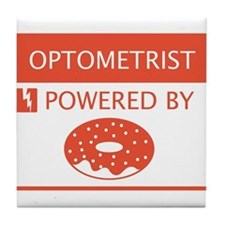 Optometrist Powered by Doughnuts Tile Coaster