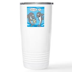 Shark Shopping Stainless Steel Travel Mug