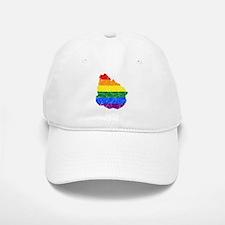 Uruguay Rainbow Pride Flag And Map Baseball Baseball Cap