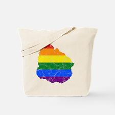 Uruguay Rainbow Pride Flag And Map Tote Bag
