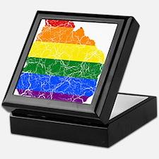 Uruguay Rainbow Pride Flag And Map Keepsake Box