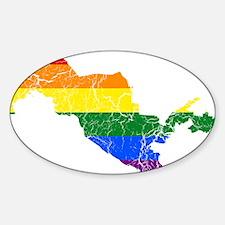 Uzbekistan Rainbow Pride Flag And Map Decal