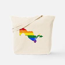 Uzbekistan Rainbow Pride Flag And Map Tote Bag