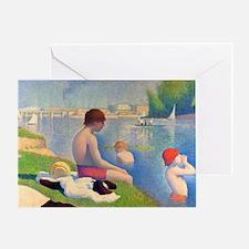 Seurat - Bathers Greeting Card