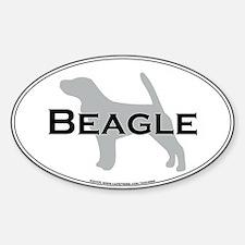Beagle Oval Decal