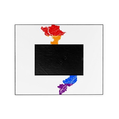 Vietnam Rainbow Pride Flag And Map Picture Frame