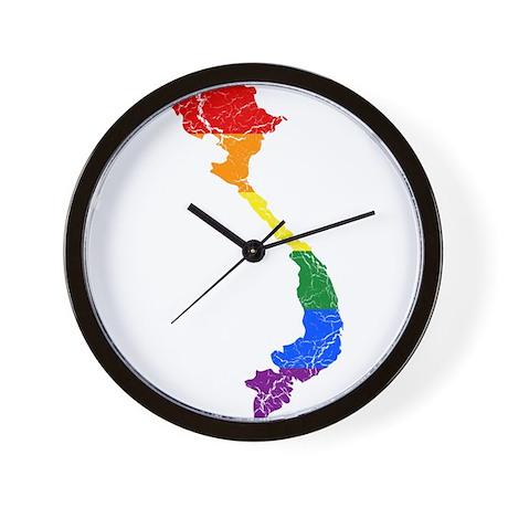 Vietnam Rainbow Pride Flag And Map Wall Clock