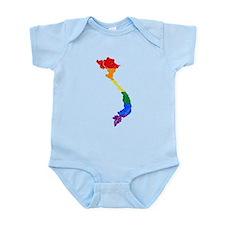 Vietnam Rainbow Pride Flag And Map Infant Bodysuit